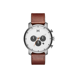 Rugged Tan Leather Men's Watch