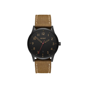 Field Brown Canvas Men's Watch