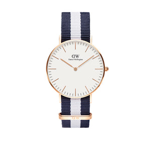 Classic 36mm Glasgow Rose Gold White Watch