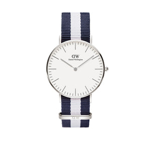 Classic 36mm Glasgow Silver White Watch