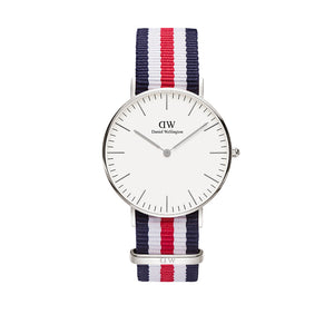Classic 36mm Canterbury Silver White Watch