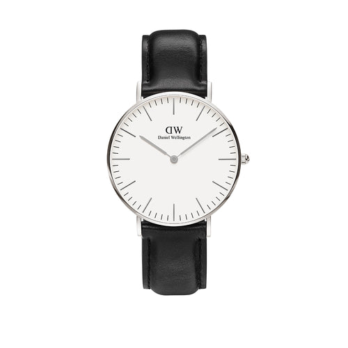 Classic 36mm Sheffield Silver White Watch