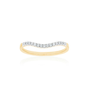 18ct Yellow Gold Sintra Diamond Band