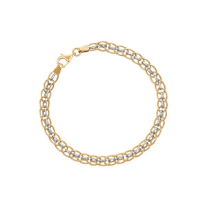 9ct Yellow / White Gold Bitone Bracelet