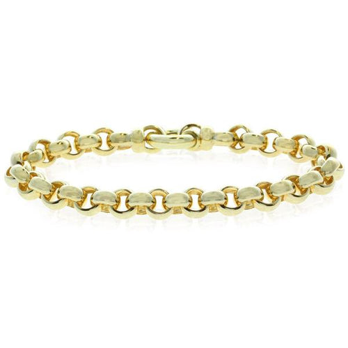 9ct Yellow Gold Belcher Bracelet With Bolt Clasp