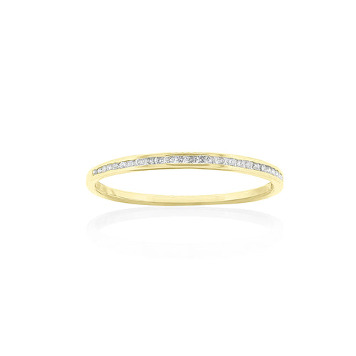 18ct Yellow Gold Diamond Stacker Ring
