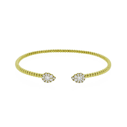 18ct Gold Essence Diamond Cuff