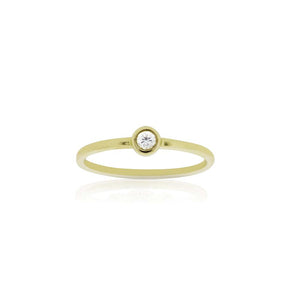 9ct Gold Droplet Diamond Ring