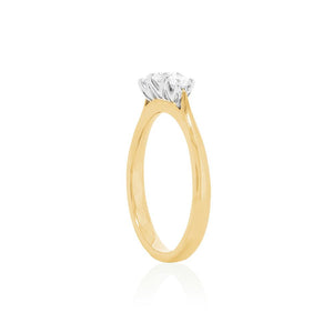 18ct Yellow Gold Madelyn Diamond Ring 3D=.50ct