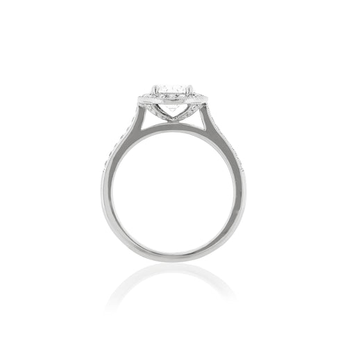 Platinum Layla Diamond Halo Ring