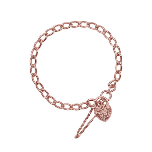 9ct Rose Gold Padlock Bracelet