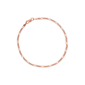 9ct Rose Gold 19cm Bracelet