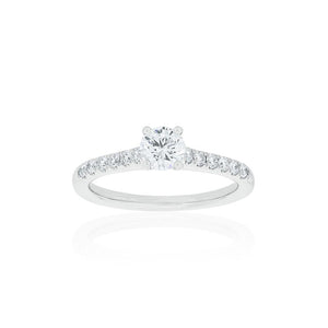 18ct White Gold Zita Diamond Ring .50ct