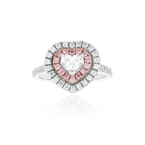 Platinum Diamond Heart Ring