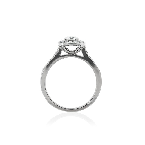 18ct White Gold Harper Diamond Halo Ring