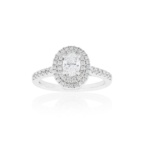 18ct White Gold Ovella Diamond Ring
