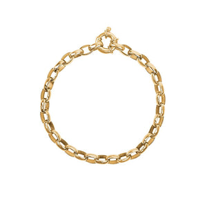 9ct Yellow Gold Small Oval Belcher Bracelet