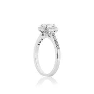 18ct White Gold Avery Diamond Halo Ring