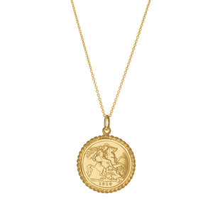 9ct Yellow Gold Half Sovereign Pendant