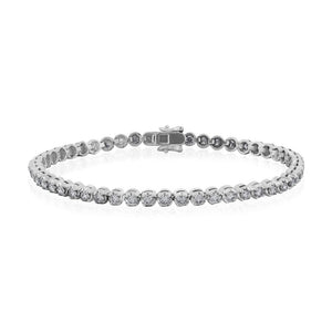 9ct White Gold Diamond Tennis Bracelet 2.50ct