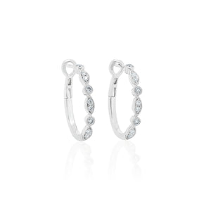 18ct White Gold Olivia Hoop Earrings