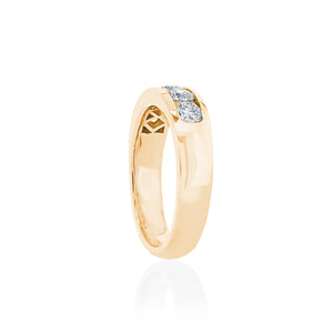 18ct Yellow Gold Rhine Diamond Ring