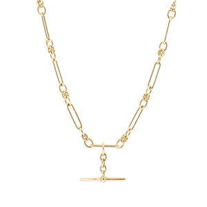 9ct Yellow Gold Paperlink Fob Necklace