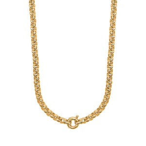 9ct Yellow Gold Round Belcher Chain Necklace