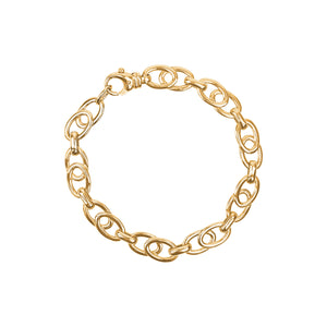 9ct Yellow Gold Double Oval Link Bracelet