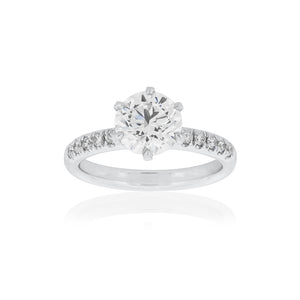Platinum Victorine Diamond Ring 1D=2.01