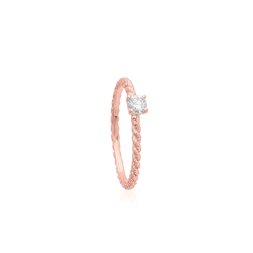 18ct Rose Gold Affection Diamond Ring