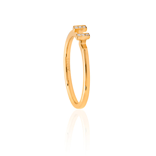 9ct Yellow Gold Allure Diamond Ring