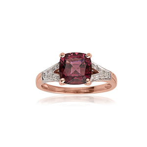 18ct Rose Gold Tourmaline & Diamond Dress Ring