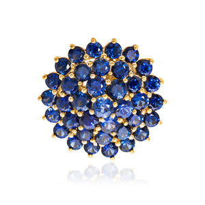 18ct Yellow Gold Sapphire Cluster Ring