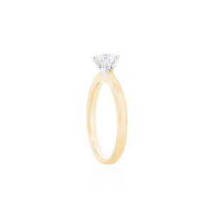 18ct Yellow Gold Vanity Diamond Ring 1D =.56