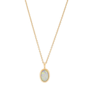 18ct Yellow Gold Opal Pendant