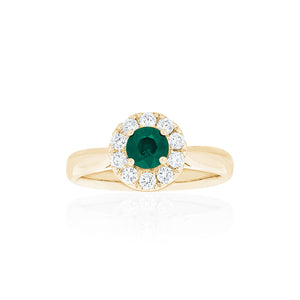 18ct Yellow Gold Carmela Emerald & Diamond Ring