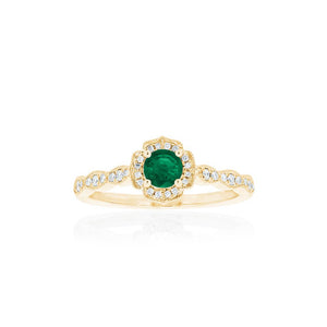 18ct Yellow Gold Rosalia Emerald Ring
