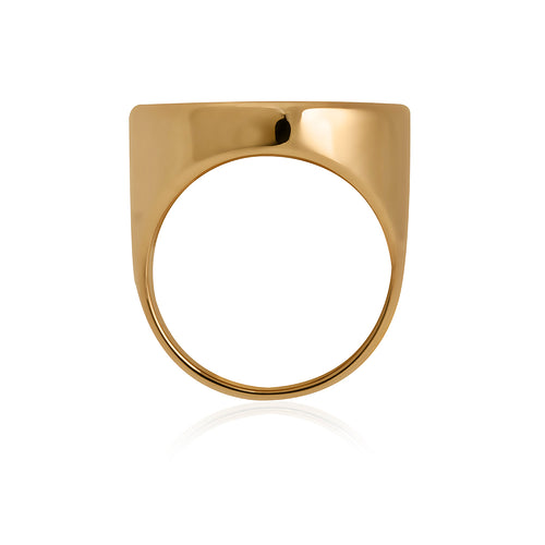 9ct Yellow Gold Full Sovereign Ring