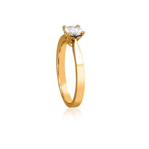 18ct Yellow Gold Diamond Facets Ring 1D=.10