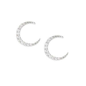 ac1b302e7 9ct White Gold Moon Diamond Stud Earrings