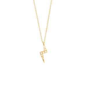 9ct Yellow Gold Zap Diamond Pendant
