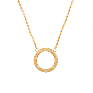 9ct Yellow Gold Droplet Diamond Pendant