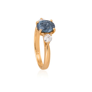 18ct Yellow Gold Sintra Tourmaline & Diamond Ring