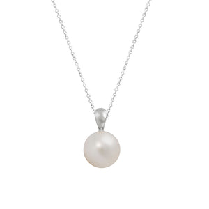 18ct White Gold South Sea Pearl Diamond Pendant