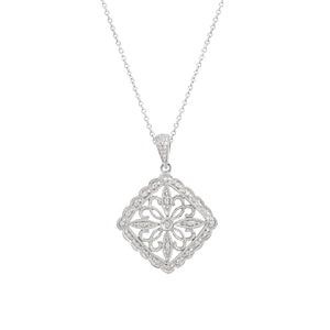 9ct White Gold Carlota Diamond Pendant