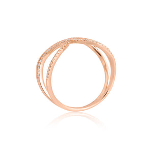 9ct Rose Gold Unity Diamond Ring
