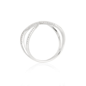 9ct White Gold Unity Diamond Ring