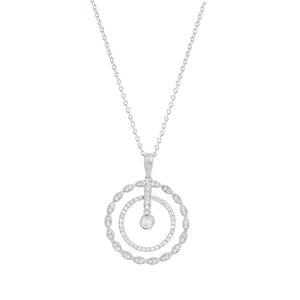 9ct White Gold Rosalia Diamond Pendant