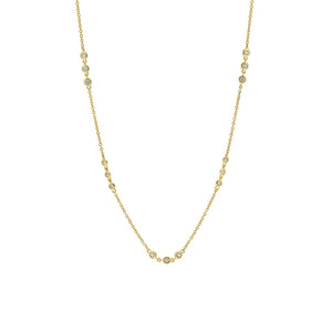 18ct Yellow Gold Trio Set Diamond Necklace